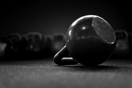 kettlebells in a crossfit gym II Stock Photo