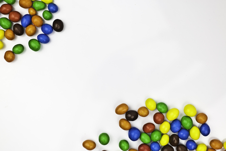 multicolored candy peanut