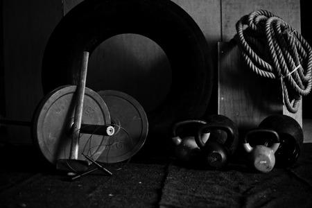 Crossfit Gym Equipment VII 스톡 콘텐츠