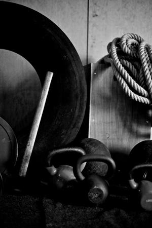 Crossfit 체육관 장비 IV 스톡 콘텐츠