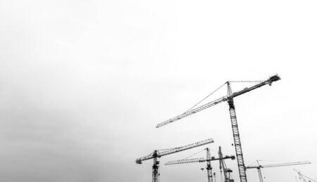 Construction tower cranes Stock Photo