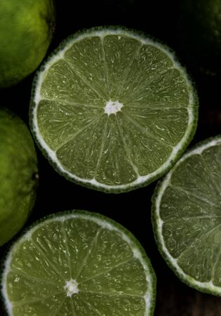 photo of Lime citrus fruit slices.