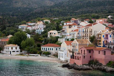 Assos village in Cephalonia island, Greece photo