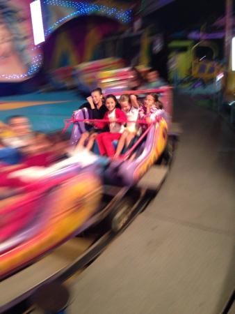 Kids in amusement park