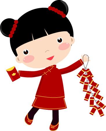 New Year Greetings_Children  Illustration