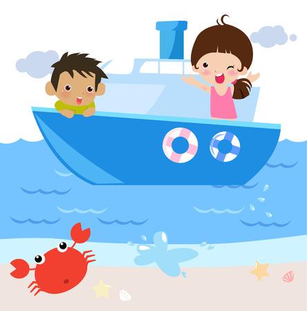 bateau voile: été Illustration