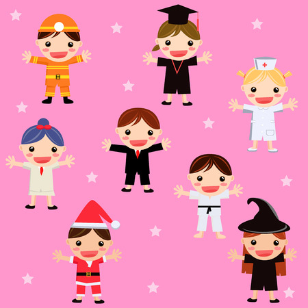 illustration of every children have different dream Vector
