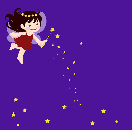 fee zauberstab: eine cute little Fairy Girl illustration  Illustration