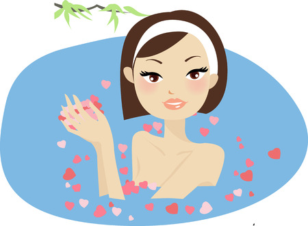 A relax massage in a beauty center  Stock Vector - 6788032