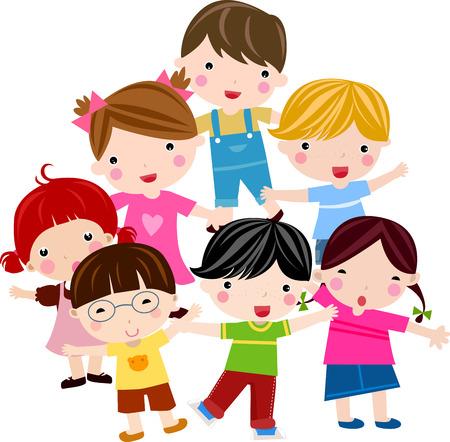 Illustration of cute group of children Stock Vector - 7992633