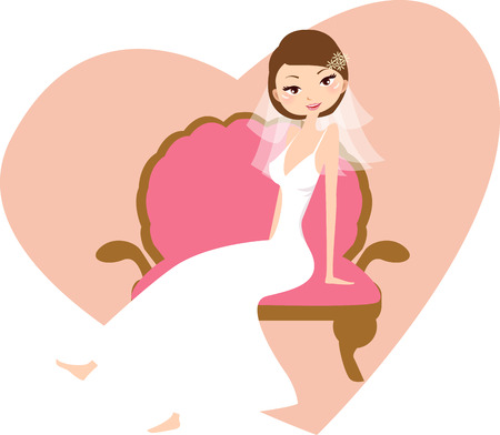 Illustration of a pretty girl readying for wedding Stock Vector - 8069923