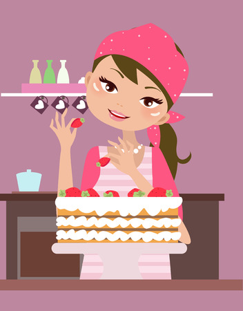 bake: housewife Illustration
