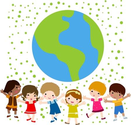 unite: kids and globe
