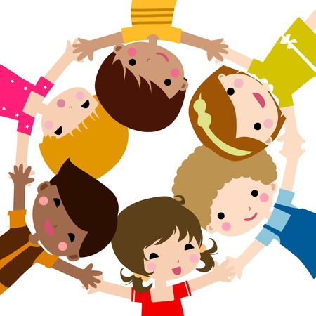 diverse hands: children Illustration