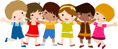 multiracial: children Illustration