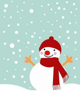bristle: snow man
