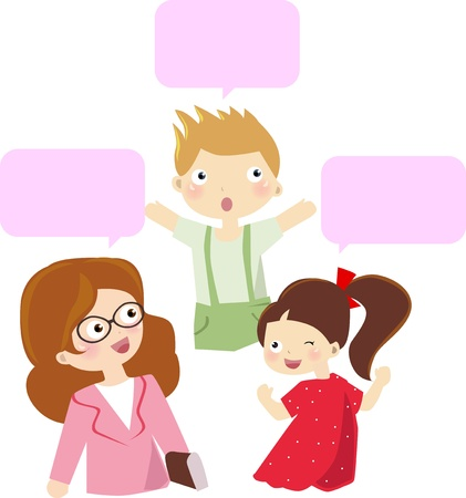 talking: teacher and student talking