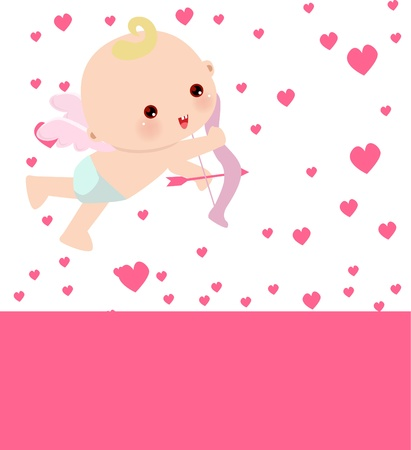 Illustration of a cute little Cupid Vector