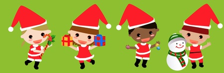 Christmas Kids  Vector