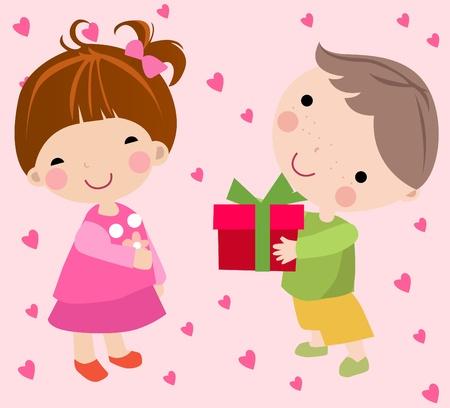 boy and girl Stock Vector - 8887096