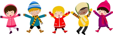 cute clipart: happy children  Illustration
