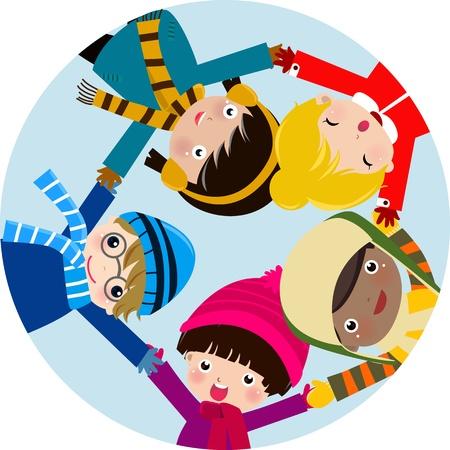 happy children Stock Vector - 9775326