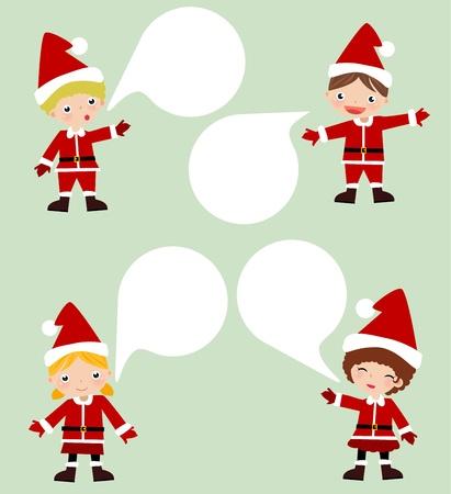 mixed race children: Christmas Kids