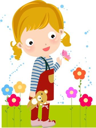 little girl Stock Vector - 9775336