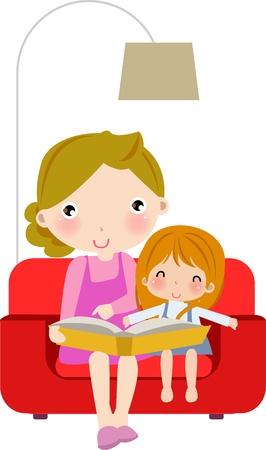 reading room: ck Vector Illustration:  Illustration