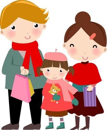 sign  childhood: family Illustration