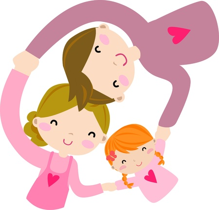 family isolated: family Illustration