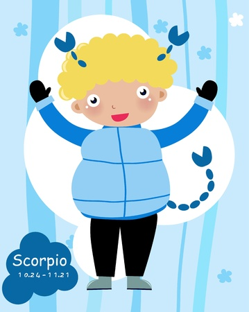 Scorpio Child - (10 of 12)  Stock Vector - 8887112