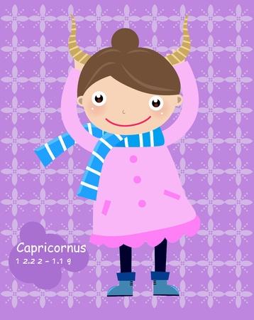 goat capricorn: Capricorn Child - (4 of 12)  Illustration