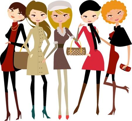 three colors: Ladies fashion Illustration