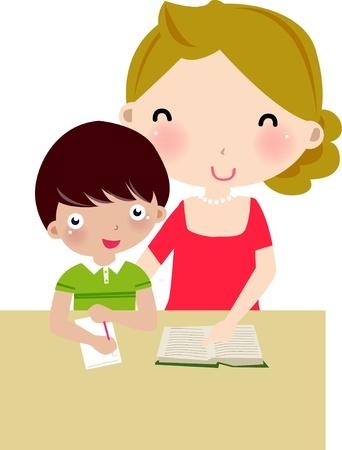 profesores: madre e hijo