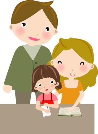부모: 가족 일러스트