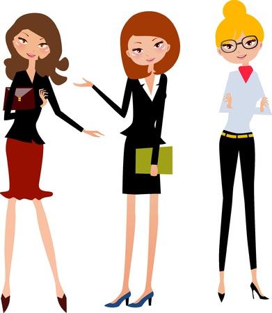 femme dessin: Office Girl - vecteur