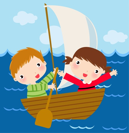 barca a vela: a vela sul lago di loto