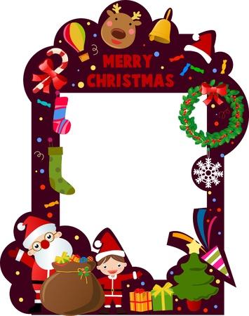 merry christmas frame Vector