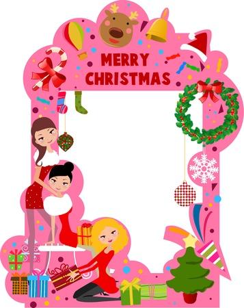 merry christmas farme Vector
