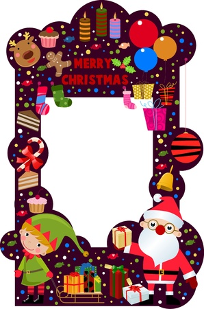 Marco de Navidad  Foto de archivo - 9775382