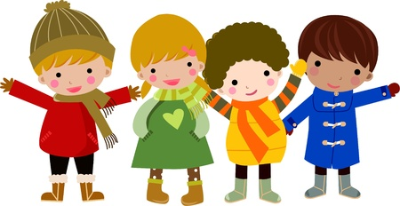 four children  Vector
