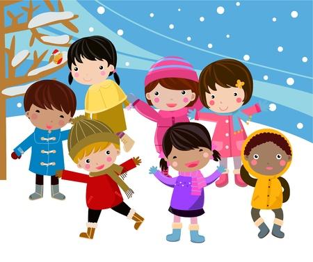 carolers: children Illustration