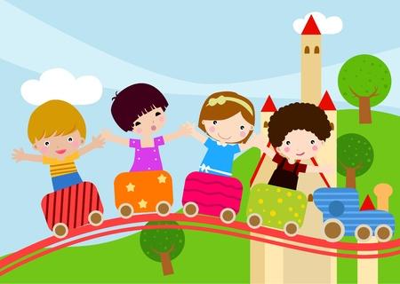 birthday train: kids and train