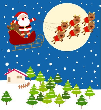 Christmas Eve Santa Vector