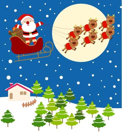 Christmas Eve Santa Stock Vector - 9775373
