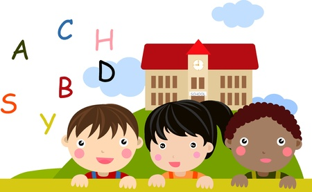 children and school Vector