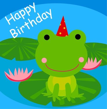 grenouille verte: Adorable grenouille verte cartoon