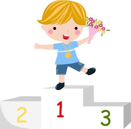 winnings: Happy prize winner  Illustration