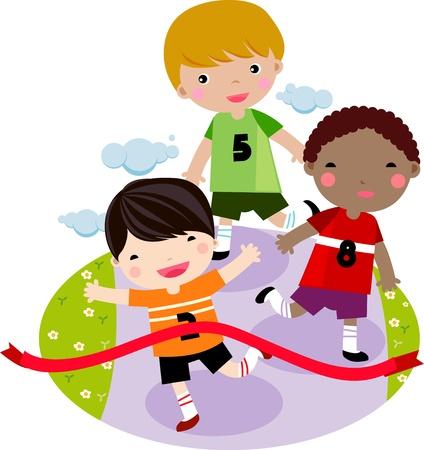 sport kids: Children Running